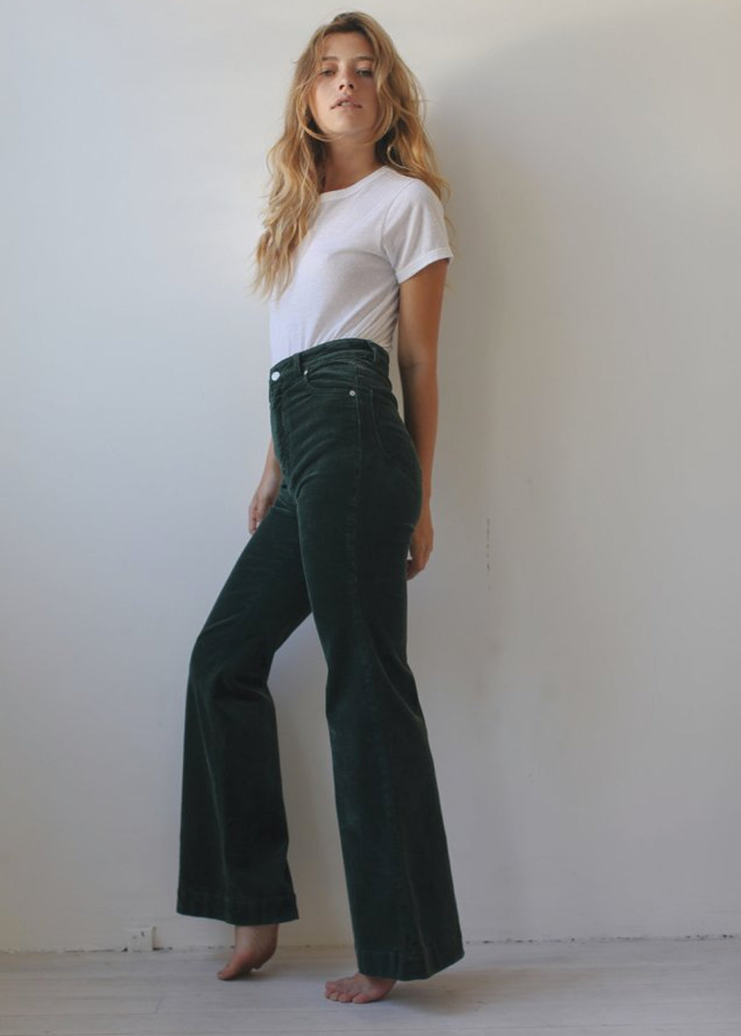 Ivy Green Cord Eastcoast Flares