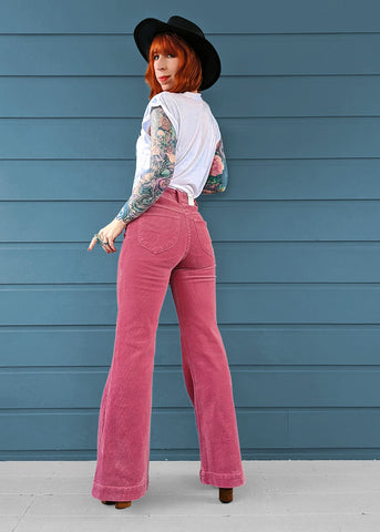 Rose Pink Eastcoast Cord Flares <br> <b> Ships Friday </b>