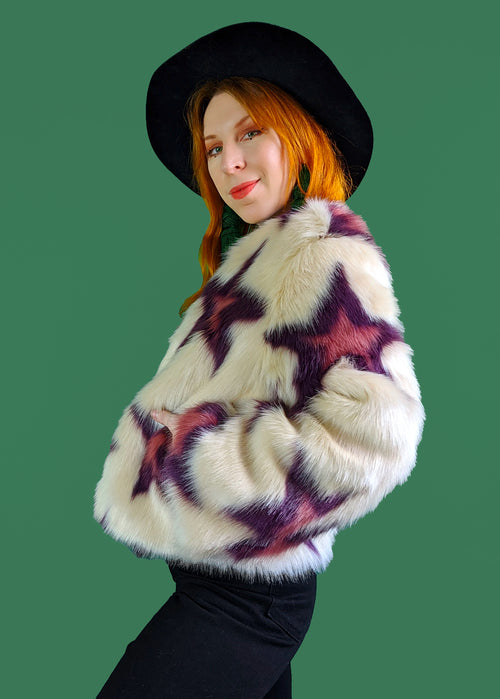 Garland Star Faux Fur Coat