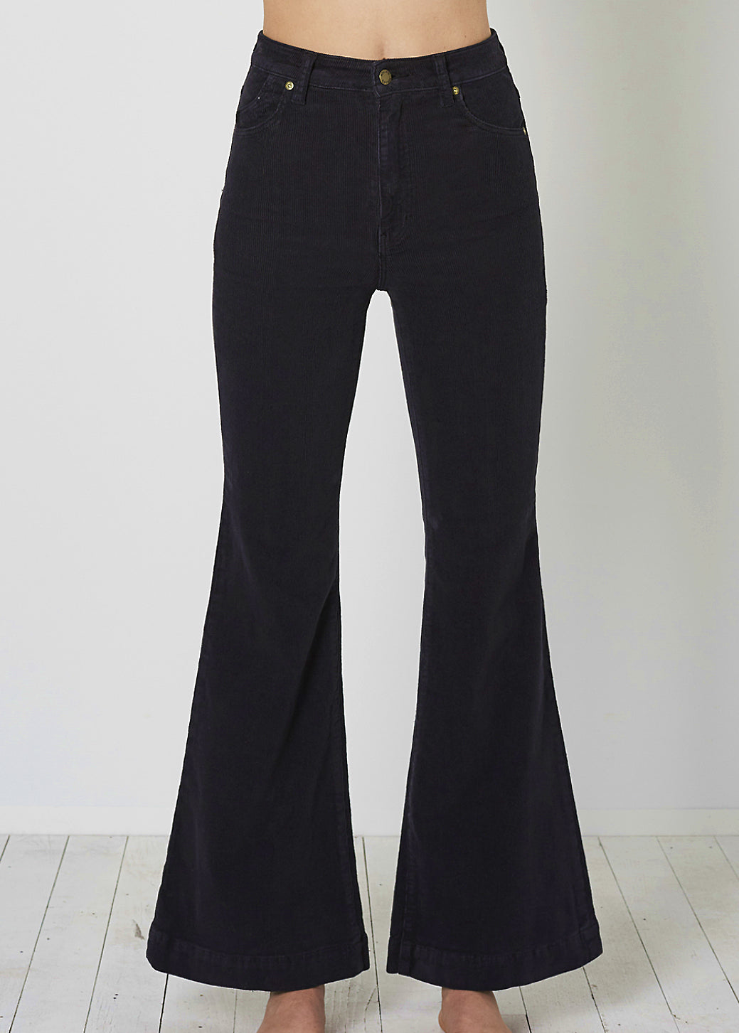 Washed Black/Charcoal Cord Eastcoast Flares