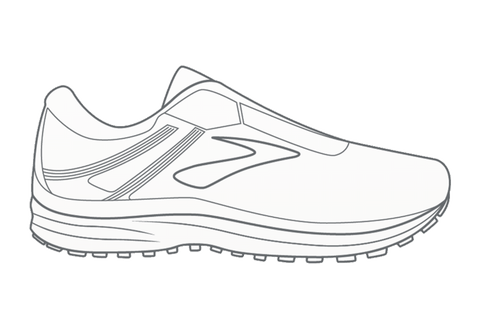 Brooks Adrenaline GTS 18 Outline Design