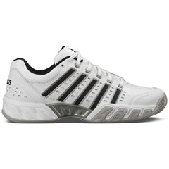 K-Swiss Mens BigShot Light LTR All-Court Shoes | White/Black/Silver