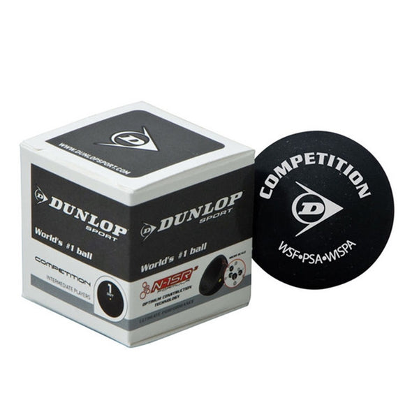 Dunlop Competiton Squash Ball Single Yellow Dot