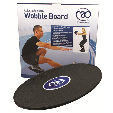 Fitness Mad Adjustable 40cm Wobble Board
