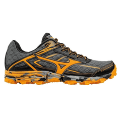 Mizuno Womens Wave Hayate 3 | Dark Shadow/Orange