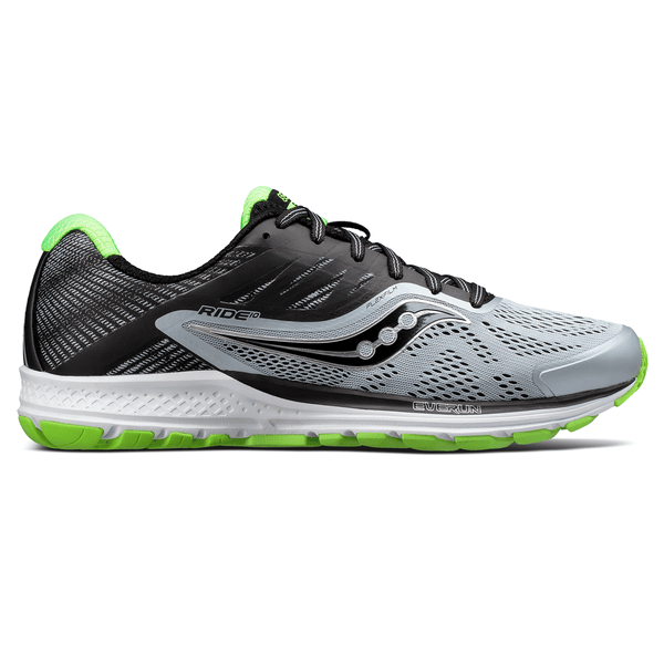 Saucony Ride 10 Mens | Grey