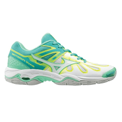Mizuno Wave Phantom Womens Netball Shoes | Green/White