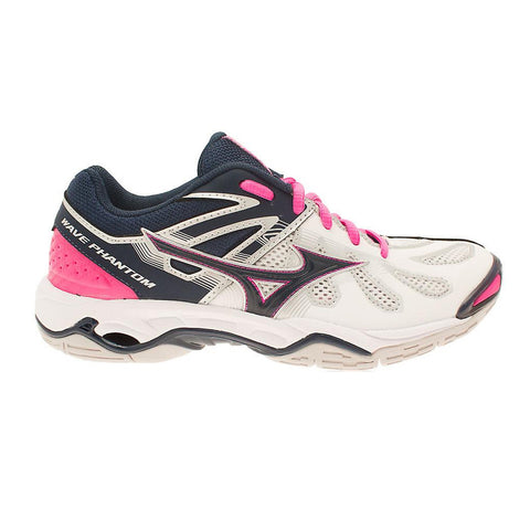 Mizuno Wave Phantom Womens Netball | White/Navy