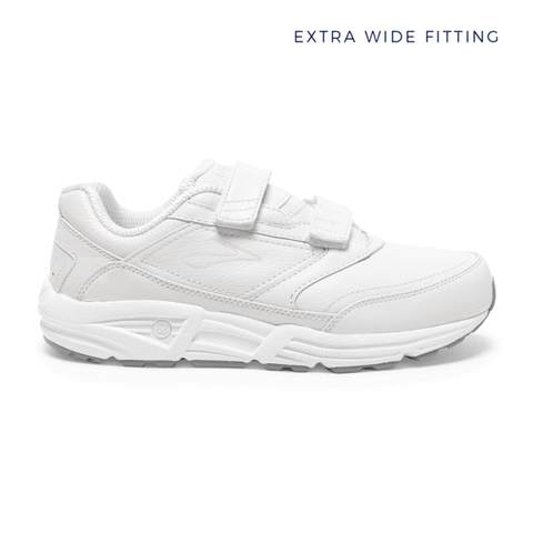 Brooks Addiction Walker V-strap Mens | Extra Wide | White
