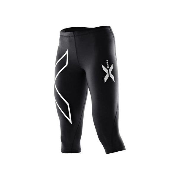 2XU Womens Compression 3/4 Tights | Black