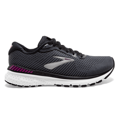 Brooks Adrenaline GTS 20 Womens | Black/White/HollyHock