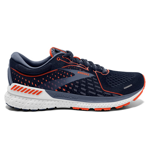 Brooks Adrenaline GTS 21 Mens | Navy/red Clay/gray