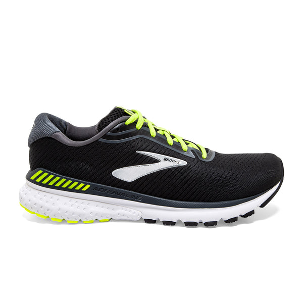 Brooks Adrenaline GTS 20 Mens | Black/nightlife/white
