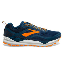 Brooks Cascadia 14 Mens | Poseidon/Orange/Grey