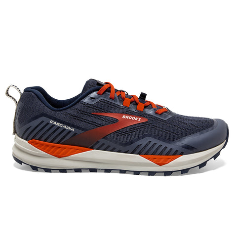 Brooks Cascadia 15 Mens | Navy/orange/pelican