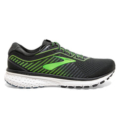 Brooks Ghost 12 Mens | Ebony/Grey/Gecko