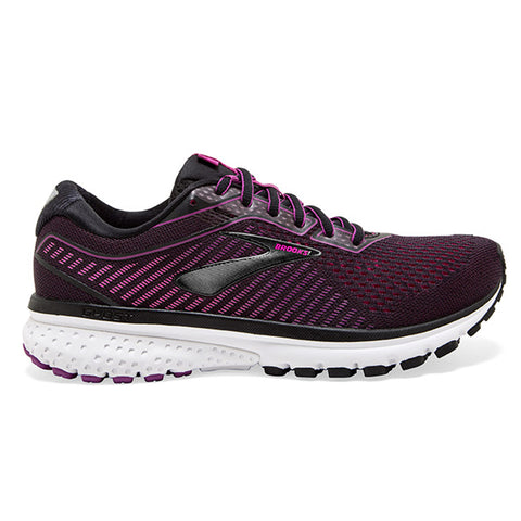Brooks Ghost 12 Womens | Black/Hollyhock/Pink