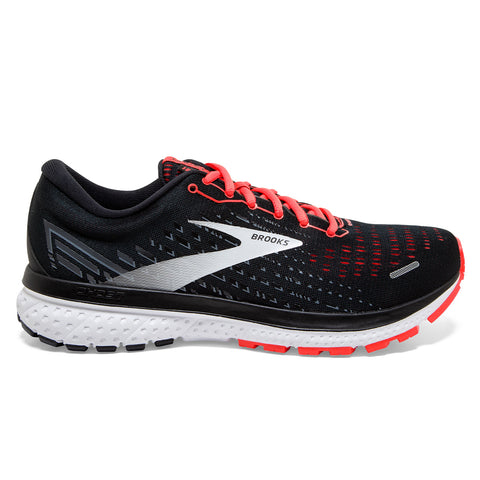 Brooks Ghost 13 Womens | Black/ebony/coral
