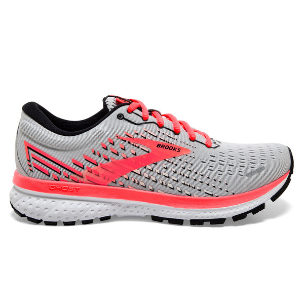 Brooks Ghost 13 Womens | Grey/fiery Coral/white
