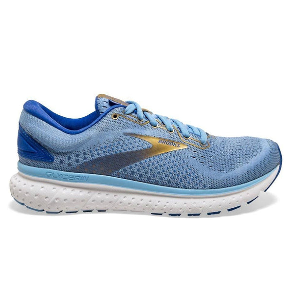 Brooks Glycerin 18 Womens | Cornflower/blue/gold
