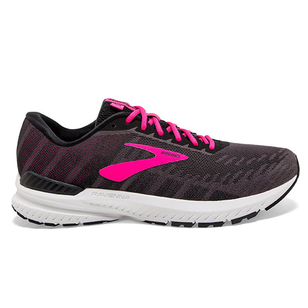 Brooks Ravenna 10 Womens | Ebony/Black/Pink