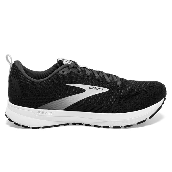 Brooks Revel 4 Mens | Black/oyster/silver