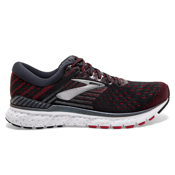 Brooks Transcend 6 Mens | Black/ebony/red