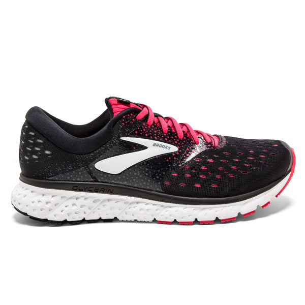 Brooks Glycerin 16 Womens | Wide | Black/Pink/Grey