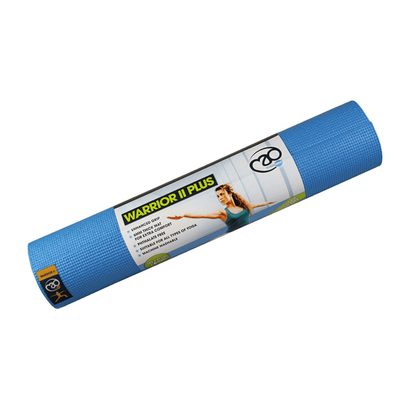 Fitness Mad Warrior II Yoga Mat | 183x61cm | Light Blue