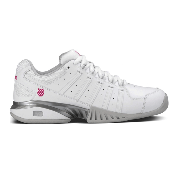 K-Swiss Receiver III Indoor Tennis Shoe Womens | White
