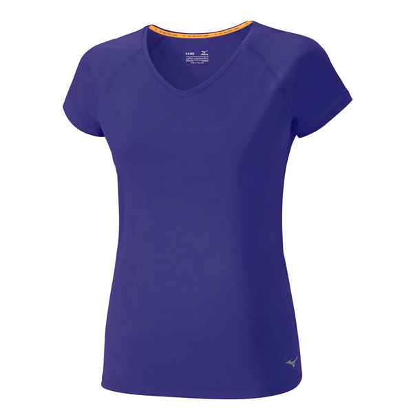 Mizuno Womens Active Tee | Blue