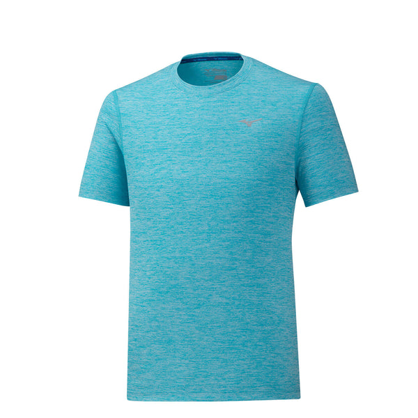 Mizuno Impulse Core Running Tee Mens | Blue Peacock