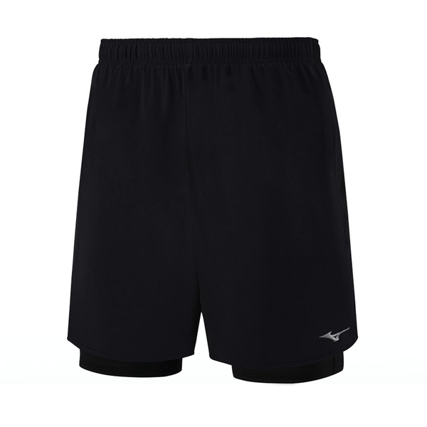 Mizuno Mens Alpha 7.5 inch 2in1 Short | Black