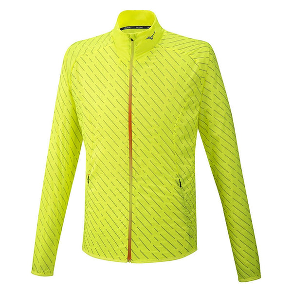 Mizuno Reflect Wind Jacket Mens | Safety Yellow