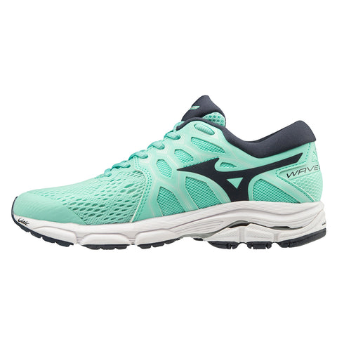 Mizuno Wave Equate 4 Womens | Igreen/Navyblazr/Slver