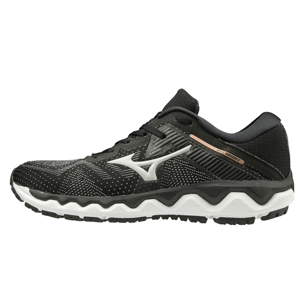 Mizuno Wave Horizon 4 Womens | Blk/Glaciergray/Champagn