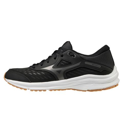 Mizuno Wave Rider 24 Jr Junior | Black/metshadow/biscuit
