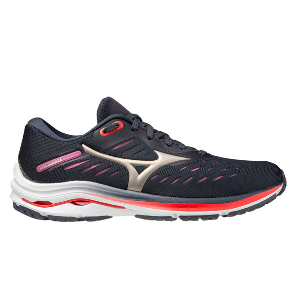 Mizuno Wave Rider 24 Womens | Indiaink/pgold/ignitionr