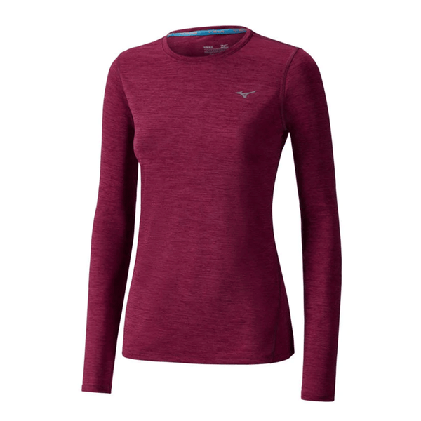 Mizuno Womens Impulse Core Long Sleeve | Beet Red