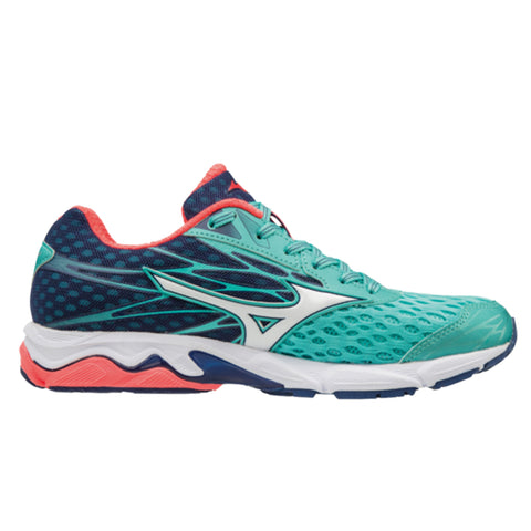 Mizuno Wave Catalyst 2 Womens | Turquoise/White/Fierycoral
