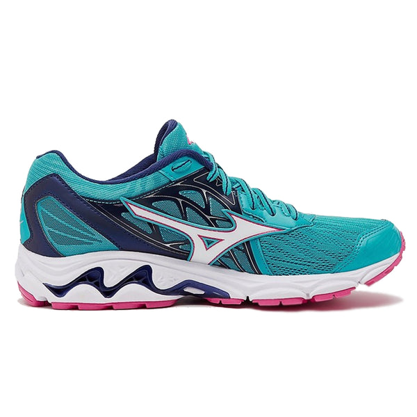Mizuno Wave Inspire 14 Womens | Pblue/Whi/Fuchsiapurple