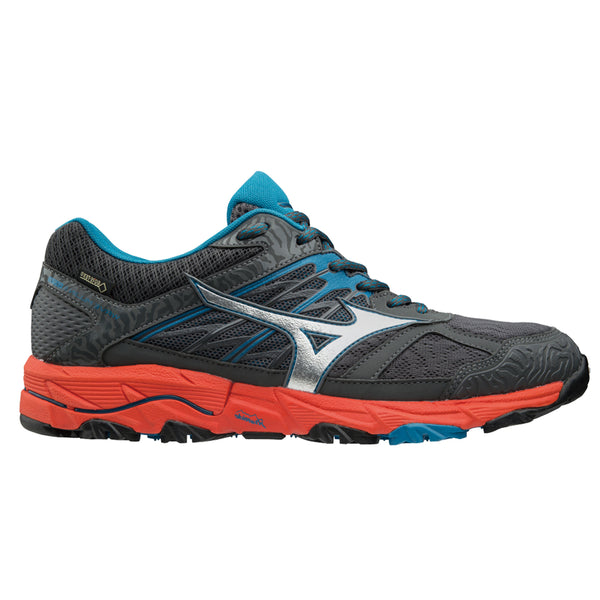 Mizuno Wave Mujin 5 GTX Mens | Darkshadow/Silv/Ctomato