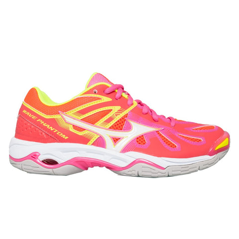 Mizuno Wave Phantom Netball Womens | Coral/White/Pink