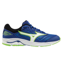 Mizuno Wave Rider 22 Junior Shoes | Surftheweb/White/Greeng