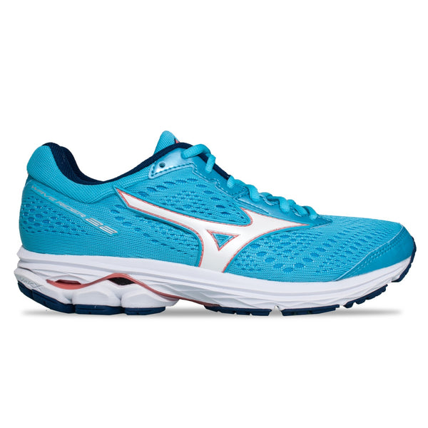 Mizuno Wave Rider 22 Womens | Blueato/Whi/Georgiap
