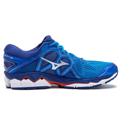 Mizuno Wave Sky 2 Mens | Blue/Silver/Cherry Tomato