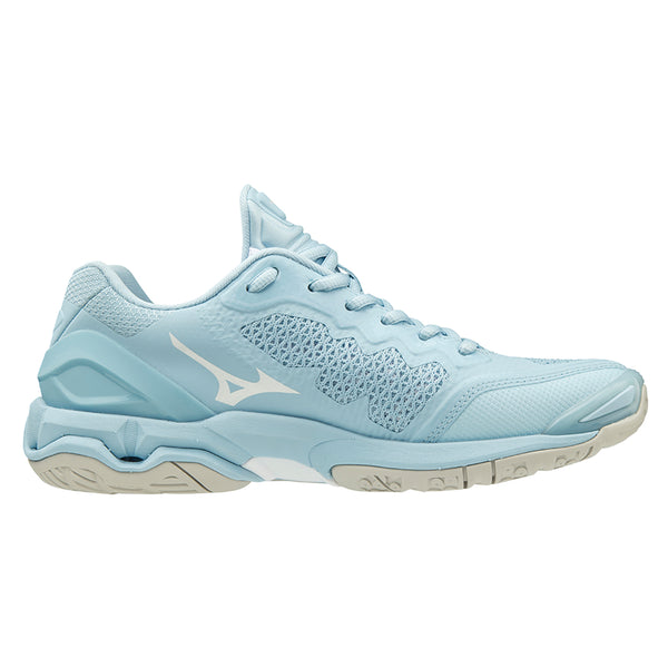 5f2a4582942d Mizuno Wave Stealth V Nb Womens | Cool Blue / White | Alexandra Sports