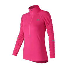 New Balance Womens Impact Half Zip | Alpha Pink