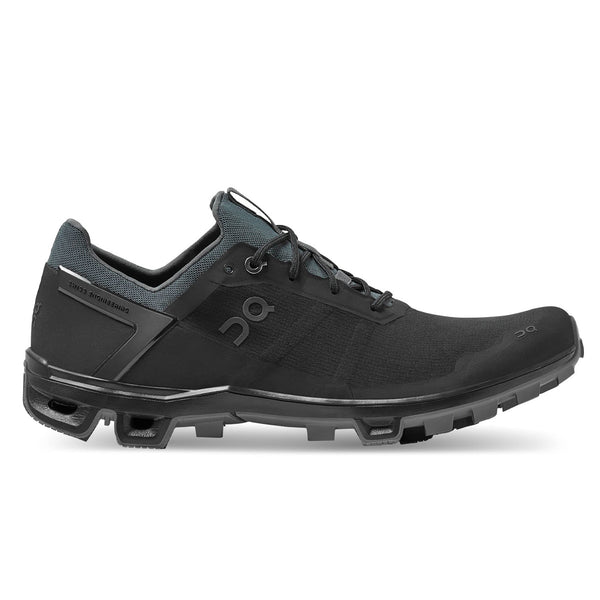 ON Cloudventure Peak Mens | Black/rock