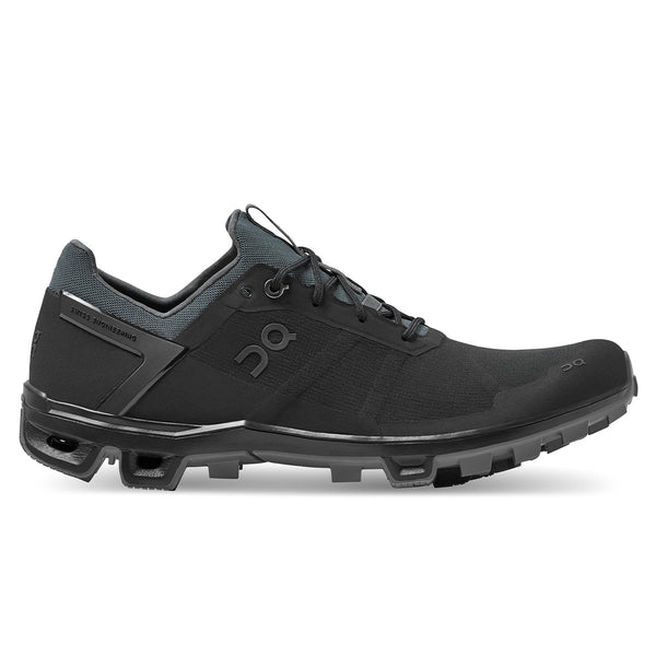 ON Cloudventure Peak Womens | Black/rock